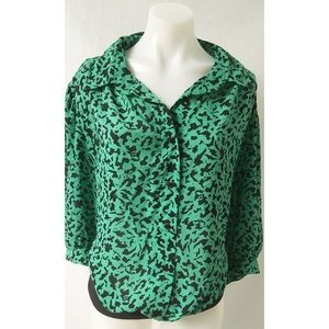 Green/Black Vintage Top Size 24
